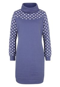 Niebieska sukienka bonprix z golfem