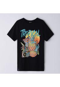T-shirt Cropp z nadrukiem, wakacyjny