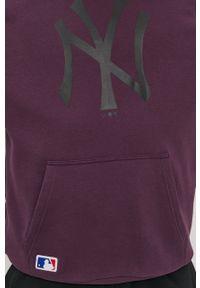 Fioletowa bluza nierozpinana New Era z nadrukiem, casualowa