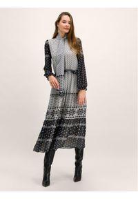 My Twin Sukienka codzienna 192MT2390 Szary Regular Fit. Okazja: na co dzień. Kolor: szary. Typ sukienki: proste. Styl: casual