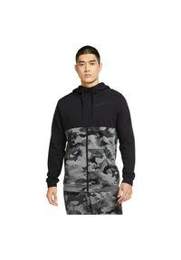 Bluza treningowa męska Nike Dri-FIT CU6048. Typ kołnierza: kaptur. Materiał: bawełna, dzianina, materiał, poliester. Technologia: Dri-Fit (Nike). Sport: fitness