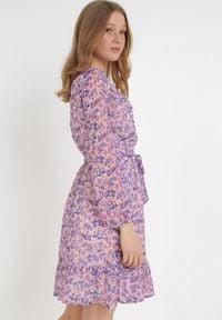 Born2be - Fioletowa Sukienka Iphaia. Kolor: fioletowy