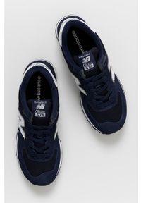 New Balance - Buty ML574EN2. Nosek buta: okrągły. Zapięcie: sznurówki. Kolor: niebieski. Materiał: guma. Model: New Balance 574