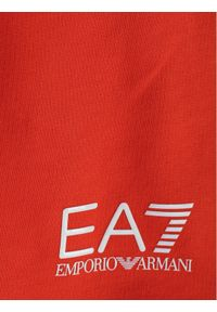 Pomarańczowe spodenki sportowe EA7 Emporio Armani #3