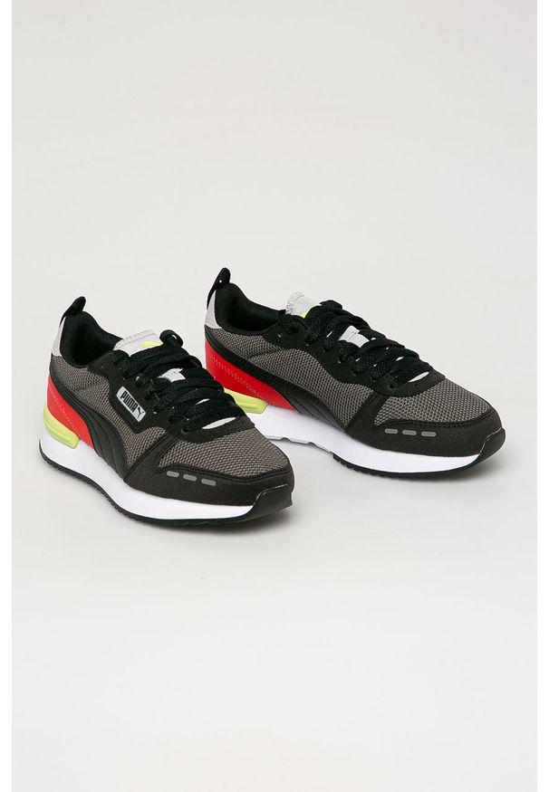 Czarne buty sportowe Puma z cholewką, z okrągłym noskiem