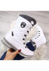 Białe botki American Club na zimę