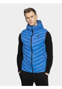 Niebieska kurtka puchowa 4f