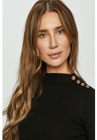 TALLY WEIJL - Tally Weijl - Sweter. Kolor: czarny. Materiał: dzianina. Długość rękawa: długi rękaw. Długość: długie