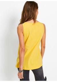 Top bonprix żółty tulipan - srebrny. Kolor: żółty