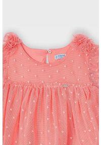 Różowa sukienka Mayoral rozkloszowana, mini
