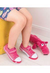 UNDERLINE - Trampki dziecięce Underline 8C181102 Różowe. Zapięcie: rzepy. Kolor: różowy. Materiał: tkanina, skóra, guma