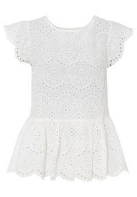 Biała bluzka bonprix z haftami
