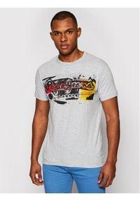 Pepe Jeans T-Shirt Amersham PM504034 Szary Slim Fit. Kolor: szary