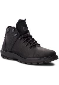 Czarne buty zimowe CATerpillar na co dzień, z cholewką, klasyczne