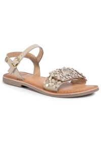 Beżowe sandały Gioseppo na lato, na co dzień, casualowe, z aplikacjami