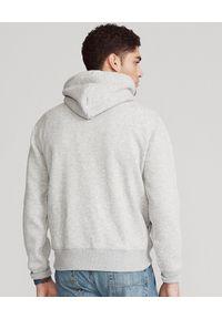 Ralph Lauren - RALPH LAUREN - Szara bluza męska. Okazja: na co dzień. Typ kołnierza: polo, kaptur. Kolor: szary. Długość: długie. Wzór: nadruk. Materiał: bawełna, jeans. Długość rękawa: długi rękaw. Sezon: wiosna. Styl: klasyczny, elegancki, casual