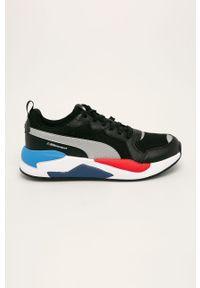 Czarne sneakersy Puma na sznurówki, z cholewką