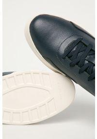 Niebieskie sneakersy G-Star RAW na sznurówki, z okrągłym noskiem, z cholewką