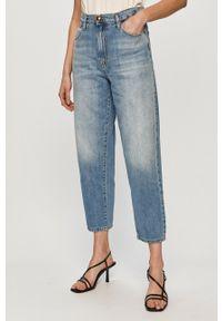 Niebieskie jeansy loose fit Pinko klasyczne, z podwyższonym stanem