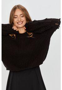 Czarny sweter Answear Lab wakacyjny, raglanowy rękaw
