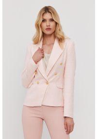 Nissa - NISSA - Marynarka. Okazja: na co dzień. Kolor: różowy. Materiał: tkanina. Styl: klasyczny, casual