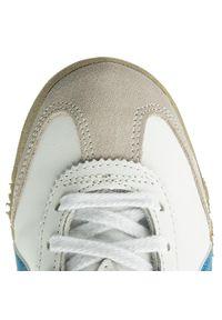 Onitsuka Tiger - Sneakersy ONITSUKA TIGER - Mexico 66 DL408 White/Blue 0146. Kolor: biały. Materiał: zamsz, skóra. Szerokość cholewki: normalna. Styl: retro
