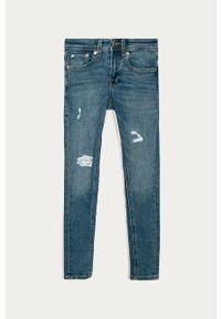 Niebieskie jeansy Jack & Jones z podwyższonym stanem