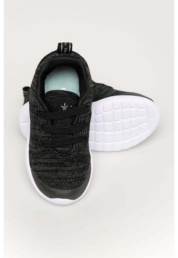 Czarne buty sportowe EMU Australia z okrągłym noskiem, z cholewką