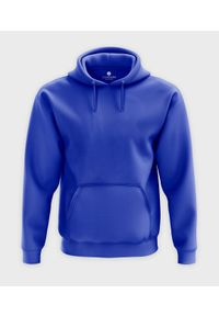 Niebieska bluza MegaKoszulki z kapturem
