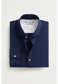 Niebieska koszula Mango Man casualowa, długa