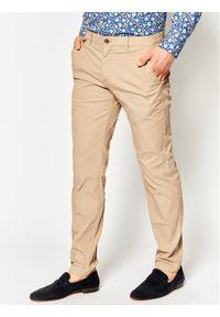 Tommy Hilfiger Tailored Spodnie materiałowe Flex Fks Washed TT0TT06987 Beżowy Slim Fit. Kolor: beżowy. Materiał: materiał