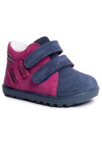 Bartek - Trzewiki BARTEK - 11732-0/KK9 Róż/Niebieski. Okazja: na spacer. Kolor: niebieski, wielokolorowy, różowy. Materiał: skóra, zamsz. Szerokość cholewki: normalna. Sezon: zima