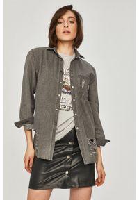 Answear Lab - Koszula jeansowa. Kolor: czarny. Materiał: jeans. Styl: wakacyjny