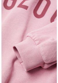 Różowa bluza Mango Kids bez kaptura, z nadrukiem