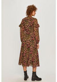 Polo Ralph Lauren - Sukienka. Typ kołnierza: polo. Długość rękawa: długi rękaw. Typ sukienki: rozkloszowane