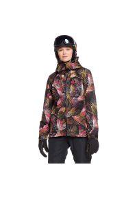 Kurtka damska snowboardowa Roxy Essence GTX ERJTJ03210. Typ kołnierza: komin. Materiał: materiał, syntetyk, włókno, puch, poliester. Technologia: Gore-Tex. Sezon: zima. Sport: snowboard