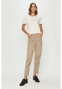 Biała bluzka Tommy Jeans na co dzień, casualowa