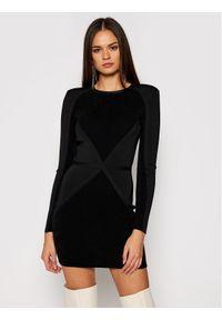Czarna sukienka dzianinowa Elisabetta Franchi