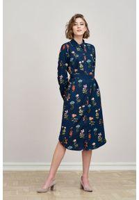 Marie Zélie - Sukienka Eliza Angelica. Materiał: bawełna, wiskoza. Długość rękawa: długi rękaw. Typ sukienki: szmizjerki. Styl: klasyczny