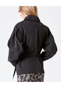 ISABEL MARANT - Czarna kurtka Dipazo. Kolor: czarny. Materiał: bawełna. Długość: długie