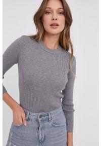 Szary sweter Answear Lab wakacyjny, długi, gładki
