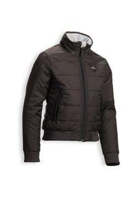FOUGANZA - Ciepła bluza jeździecka 500 Warm dla dzieci. Kolor: szary. Długość: krótkie. Sport: jeździectwo