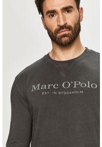 Szara bluza nierozpinana Marc O'Polo gładkie, na co dzień, casualowa, polo