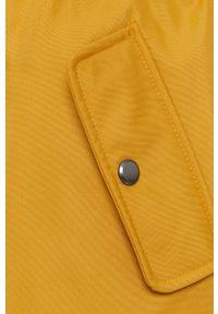 only - Only - Kurtka. Okazja: na co dzień. Kolor: żółty. Materiał: włókno, futro, materiał. Styl: casual