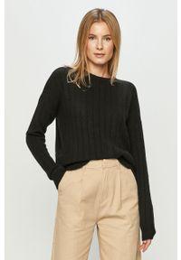 Czarny sweter Vero Moda casualowy, długi, na co dzień, z długim rękawem
