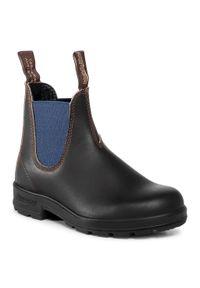 Czarne buty zimowe Blundstone z cholewką
