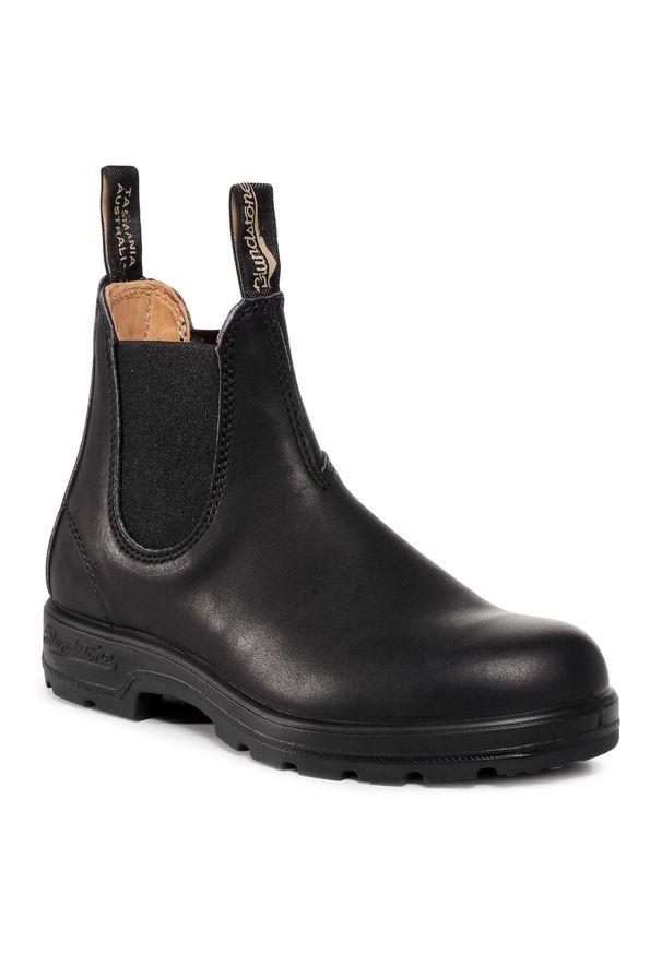 Czarne botki Blundstone na obcasie, na średnim obcasie