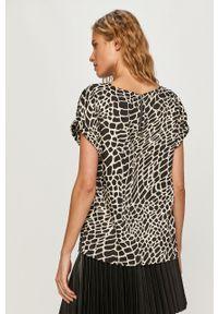 Wielokolorowa bluzka DKNY na co dzień, krótka, z krótkim rękawem, casualowa