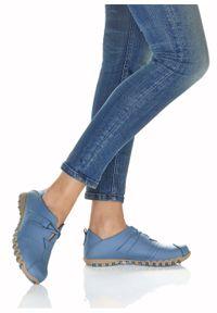 Niebieskie buty sportowe bonprix bez zapięcia