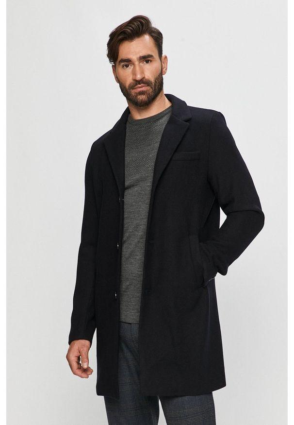 Czarny płaszcz Tailored & Originals bez kaptura, na co dzień, klasyczny